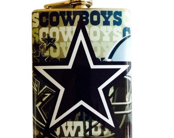 Dallas Cowboys NFL Flask Stainless Steel 8OZ Hip Texas Football FC2