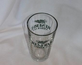 Miller Beer Amber Reserve Pint glass
