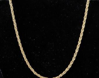 Silver & Gold Braided Chain