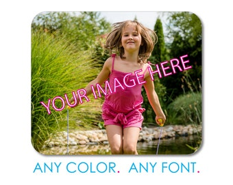 """Custom Mouse Pad - Personalized Monogram  - 1/4"""" Thick - Full Color Mousepad - Any Design - Your Own Photograph or Image and Monogram"""