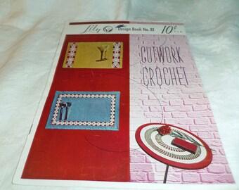 Crochet Patterns, Cutwork Crochet, Lily Design Book No. 81 Pub. in 1957 Home Decor, Doilies,