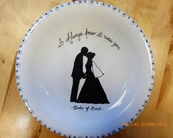 Custom Signature Wedding, anniversary or Bridal Shower Plate