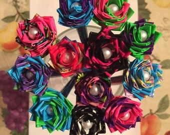 Bouquet of Duct Tape Rose Pens