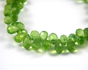 AAA Peridot Faceted Drops, Natural Arizona Peridot Top Drilled Drops with Fine Faceting and High Luster for Your Jewelry Creations - 18X