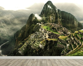 Removable Wall Mural - Machu Picchu - Self-Adhesive Repositional Fabric Wallpaper - Full Sizes