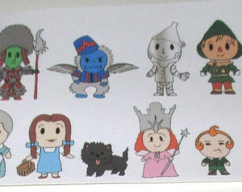 Follow the Yellow Brick Road - Character Stickers