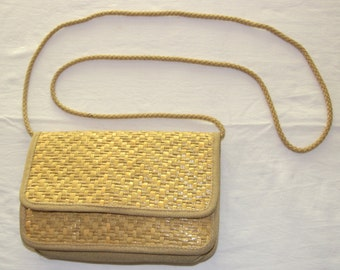 Pouch braided Wicker vintage