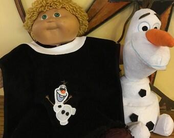 Olaf Appliqued baby bib