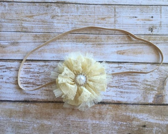 Fall Headband/Ivory Headband/Autumn Headband/Baby Headband/Infant Headband/Baby Girl Headband/Toddler Headband/Newborn Headband/Headband