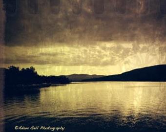 Lake George NY,Square Photo, Landscape Photography, Adorondacks,Nature Photography,Mountain Lake Wall Art. Wall Decor, Fine Art
