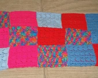 REDUCED knitted blanket.Bo Ho blanket.Pet blanket.