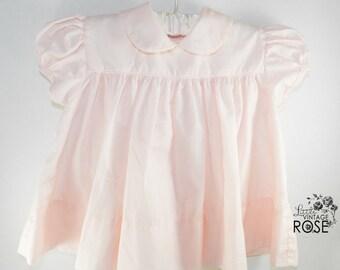 Vintage C.I. Castro &Co Baby Girl Dress, Soft Pink Dress, Baby Dress, Soft Pink Infant Dress, Vintage Infant, Vintage Baby Clothes,