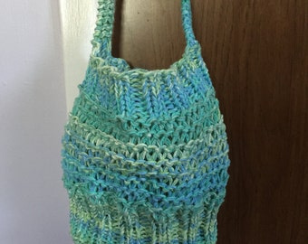 Market Bag, Knitted Bag, Knitted Tote
