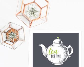 Tea party decorations | tea decor | teapot decor | teapot printable | tea party printable | instant download art print | tea art print