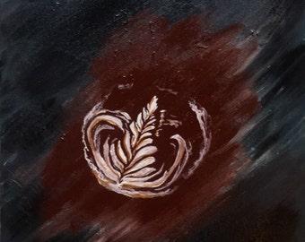 Latte art painting