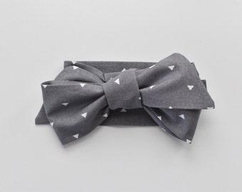 Gray Triangle Baby Head Wrap