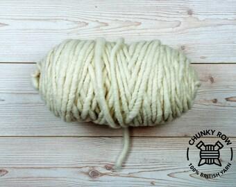 140m Super Chunky Yarn - 100% Real Shetland & British! Ecru (Natural White)