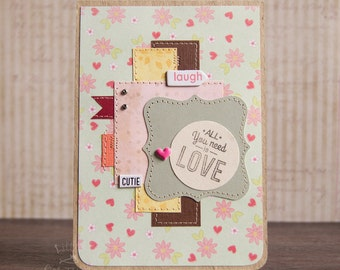 greeting card / spring / flowery / multilayer