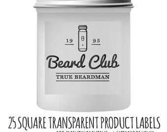 Custom Clear Stickers - Custom Clear (Transparent) Square Vinyl Stickers- Waterproof