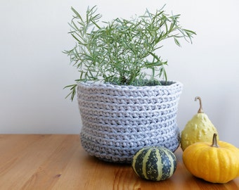 Crochet round basket 42 colors