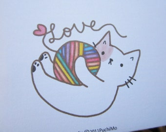 Regular Envelope / Rainbow Yarn