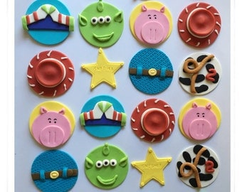 Set of 12 or 24 Toy Story cupcake toppers
