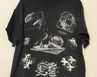 Vintage 90s MC Escher Art Tee XL