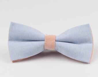 Bowstie - Hand made bowtie - Blue & Orange