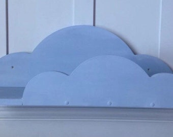 Annie Sloan Louis Blue painted cloud shelf nursey 70cms approx new