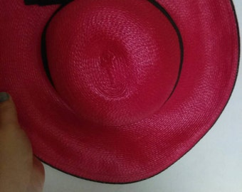 Vintage red hat. Perfect for a sunny day