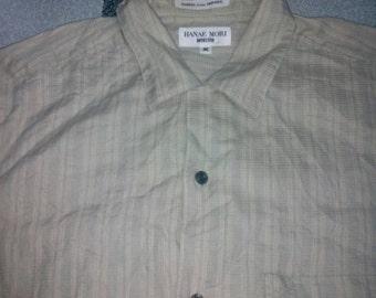 Vintage 90s Hanae Mori Monsieur cotton  linen shirt M