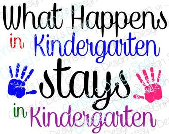 Back to school svg / kindergarten svg /svg file / school svg / kindergarten clip art / kindergarten vinyl crafts / scrapbooking art