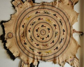 Painted Buffalo Robe, Lakota Artist Sonja Holy Eagle