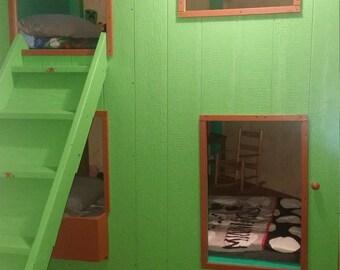 Children's Bunk Bed Playhouse
