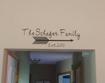 Personalized Last name Wall Decal