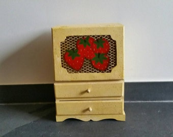 Vintage Strawberry Drawer Jewelry Box