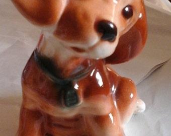 Pottery beagle dog 1950s