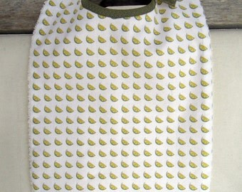 Lemons printed baby bib