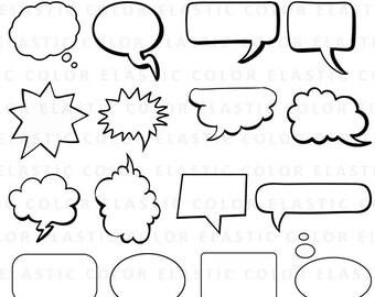 Speech Bubbles svg - Speech Bubbles Clipart - comic bubbles  vector digital download files svg, png, dxf, eps