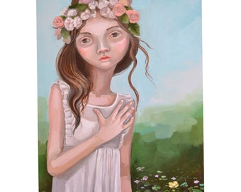Hand on heart (original painting)