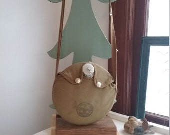 """Vintage """"Shabby"""" Boy Scout Canteen, With Scout Name and Group Written on Back"""