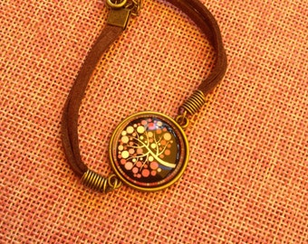 cabochon bracelet with tree of life