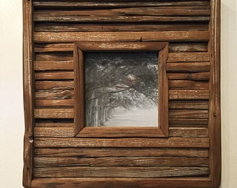 Rustic Industrial Wood Picture Frame