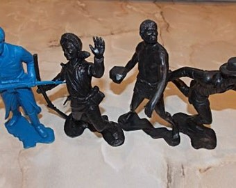 Great Soviet toy soldiers. USSR. Vintage Retro