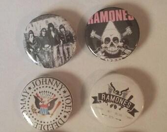 8 Ramones button set
