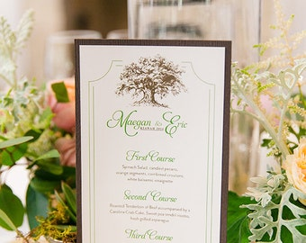 Customized Wedding Menus