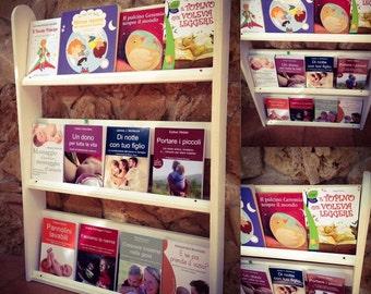 Front White Montessori Method Montessori Bookcase