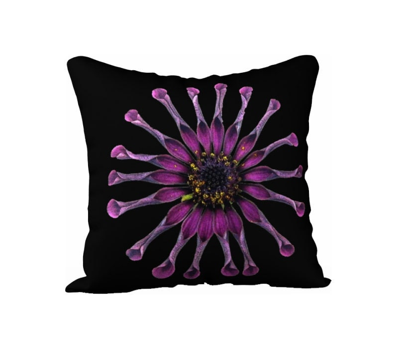 Purple Floral Pillow Cover Flower Case Throw Cover Decorative