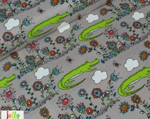 ORGANIC COTTON by Birch Fabrics - Lurking from Picnic Whimsy Collection - Sold by the Fat Quarter - UK Seller