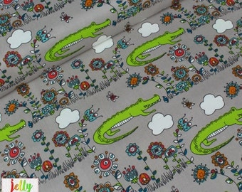 ORGANIC Cotton by Birch Fabrics - Lurking from Picnic Whimsy Collection - UK Seller